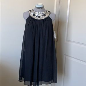 NWOT Maggy London Silk Halter Swing Dress